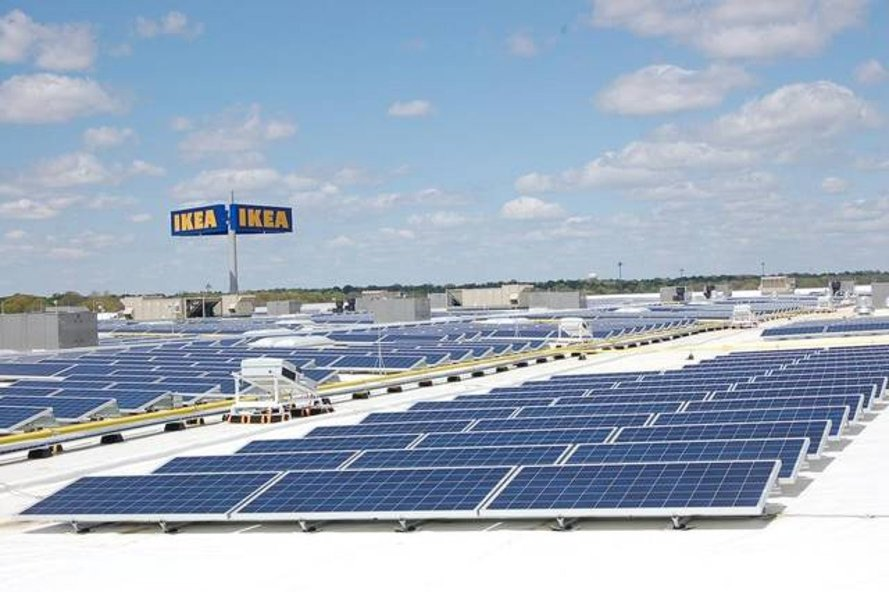 ikea, renewable energy, sustainable energy, sustainable business, net zero energy, net positive energy, wind turbines, solar panels, rooftop solar panels