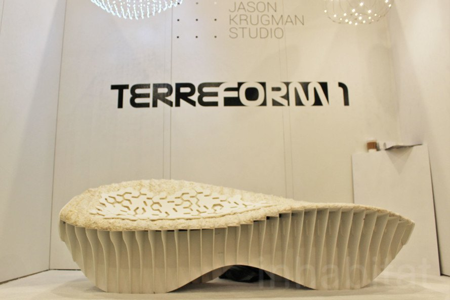 nycxdesign, terreform one, mushroom chair, mushroom furniture, icff, international contemporary furniture fair, nycxdesign, eco design, sustainable design, green design, ecovative, biodegradable furniture, mushroom chaise, mycoform