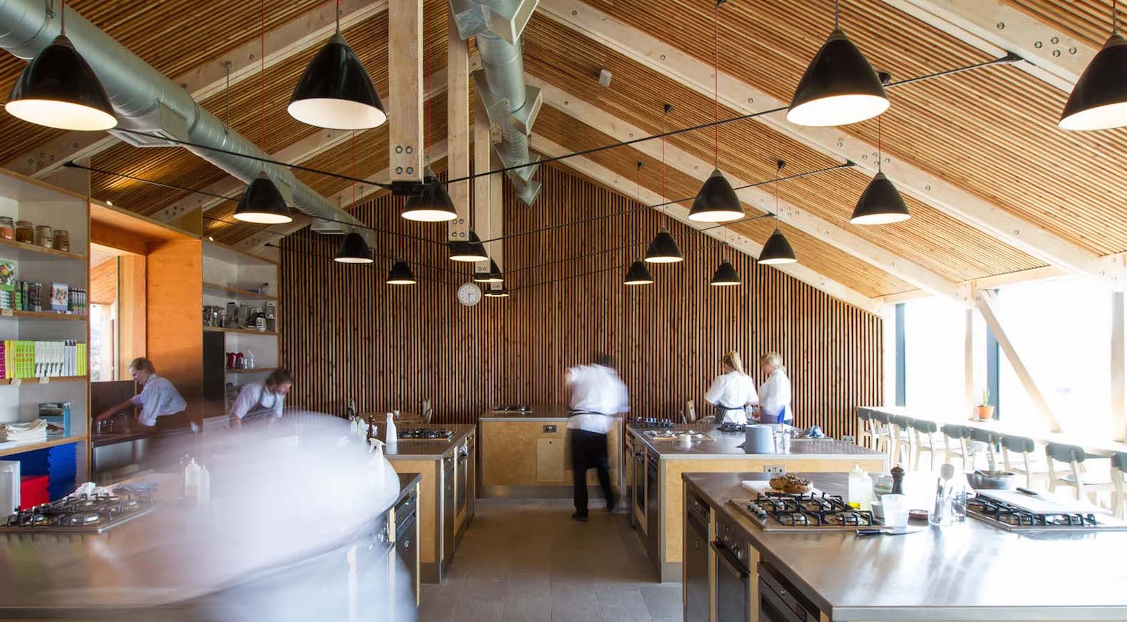Disused farm buildings are transformed into a sustainable farming and cooking school