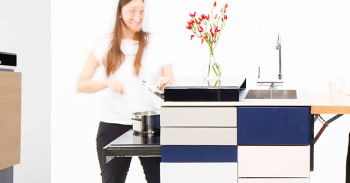 This ultra-compact micro kitchen unfolds like a Swiss Army knife when it's time to cook (VIDEO)