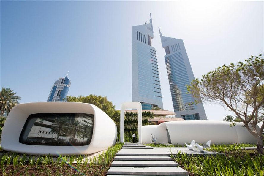 Real Architecture Buildings dubai debuts the world's first fully 3d-printed building