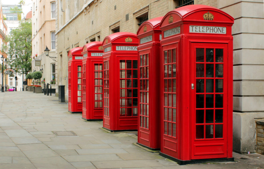 UK, Britain, telephone box, telephone booth, telephone boxes, telephone booths, Bar Works, Pod Works, co-working space, London