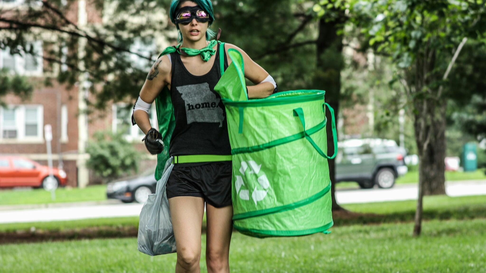 Kansas City resident KC EarthKid is taking to the streets to save the planet