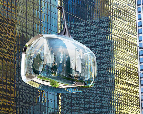 chicago, marks barfield architects, davis brody bond, chicago skyline, cable car, gondolas, tourism, tourist attractions, transportation