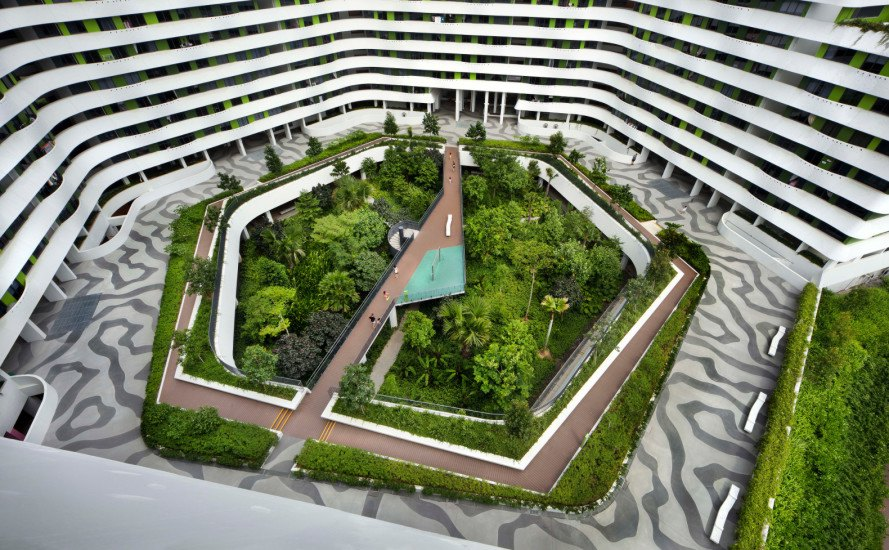 punggol waterway terraces, group8asia, passive climate control, cross ventilation, natural ventilation, sustainable housing, sustainable building, sustainable architecture, green roofs, solar panels, singapore, open air design