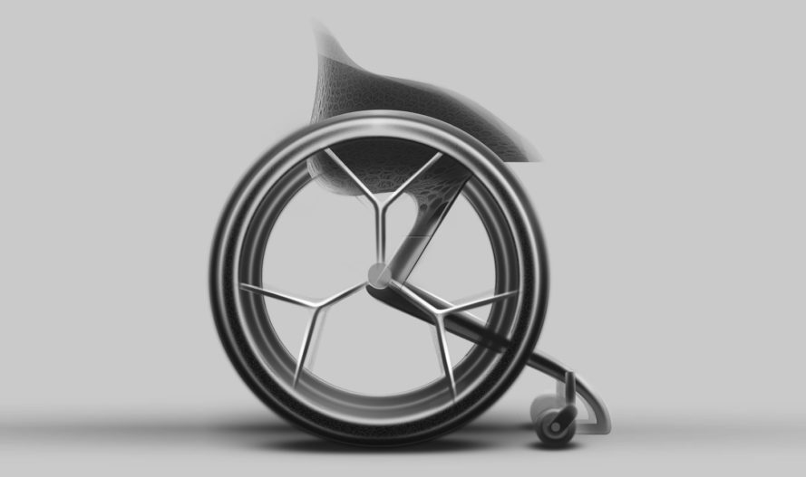 3d printing, wheelchair, accessibility, handicaps, disability, mobility, titanium, carbon fiber, tpu, Clerkenwell Design Week, Layer Design, Benjamin Hubert, Go Wheelchair
