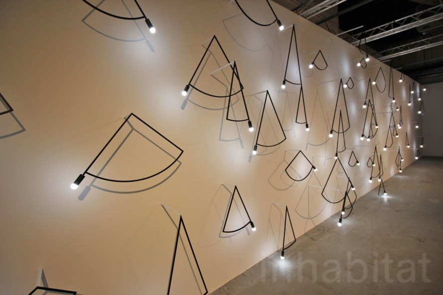 Nendo S Trace Collection Of Cabinets And Lights Look Like Line