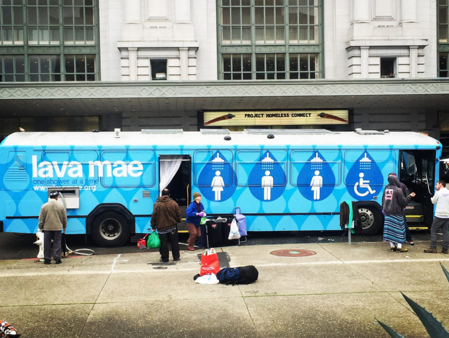 lava mae, mobile shower, homeless, san francisco, urban, repurpose, upcycle, crowdfunding, retrofit, social good, public architecture, hygiene, poverty, design