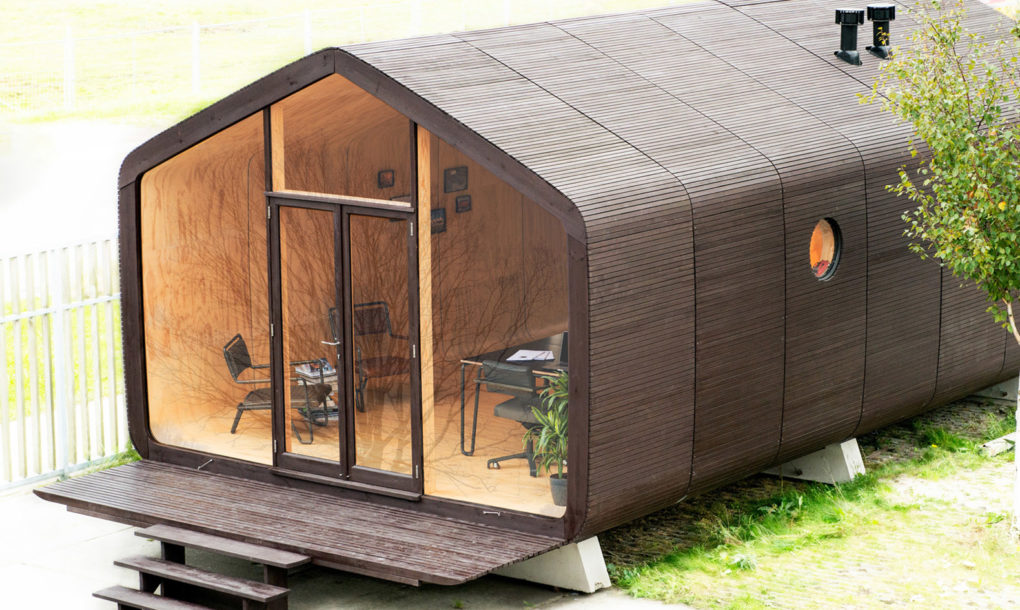 Modular Wikkelhouse Wrapped In 24 Layers Of Cardboard