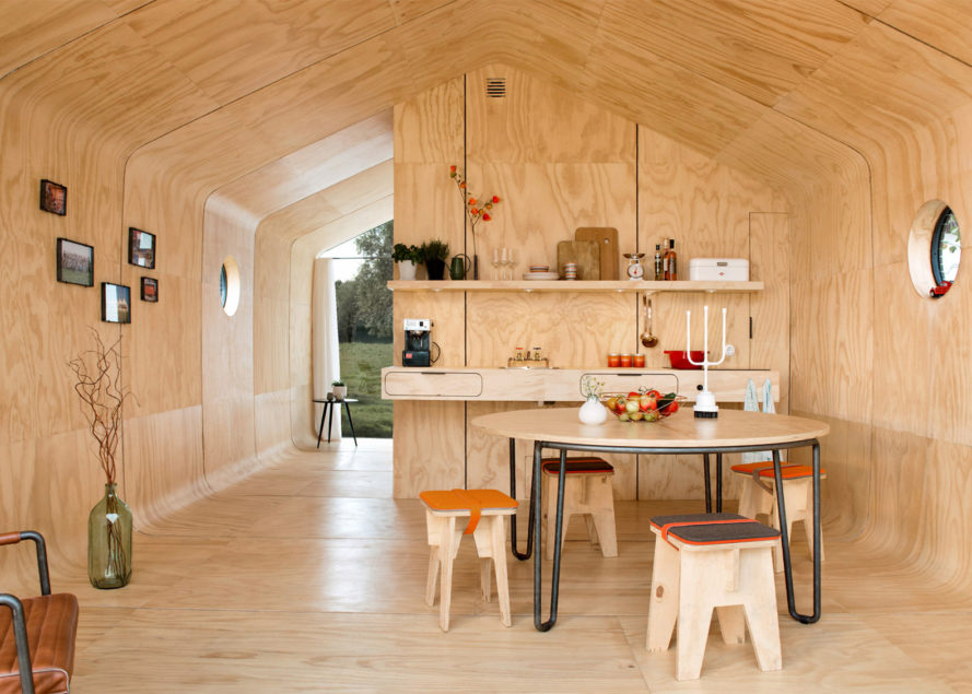 Fiction Factory, Wikkelhouse, cardboard house, house made of cardboard, house that snaps together, Dutch cardboard house, Wikkelhouse by Fiction Factory, Wrap House, modular Wikkelhouse
