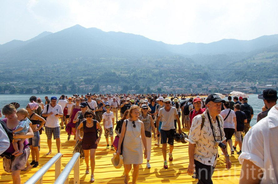 The Floating Piers by Christo at Lake Iseo