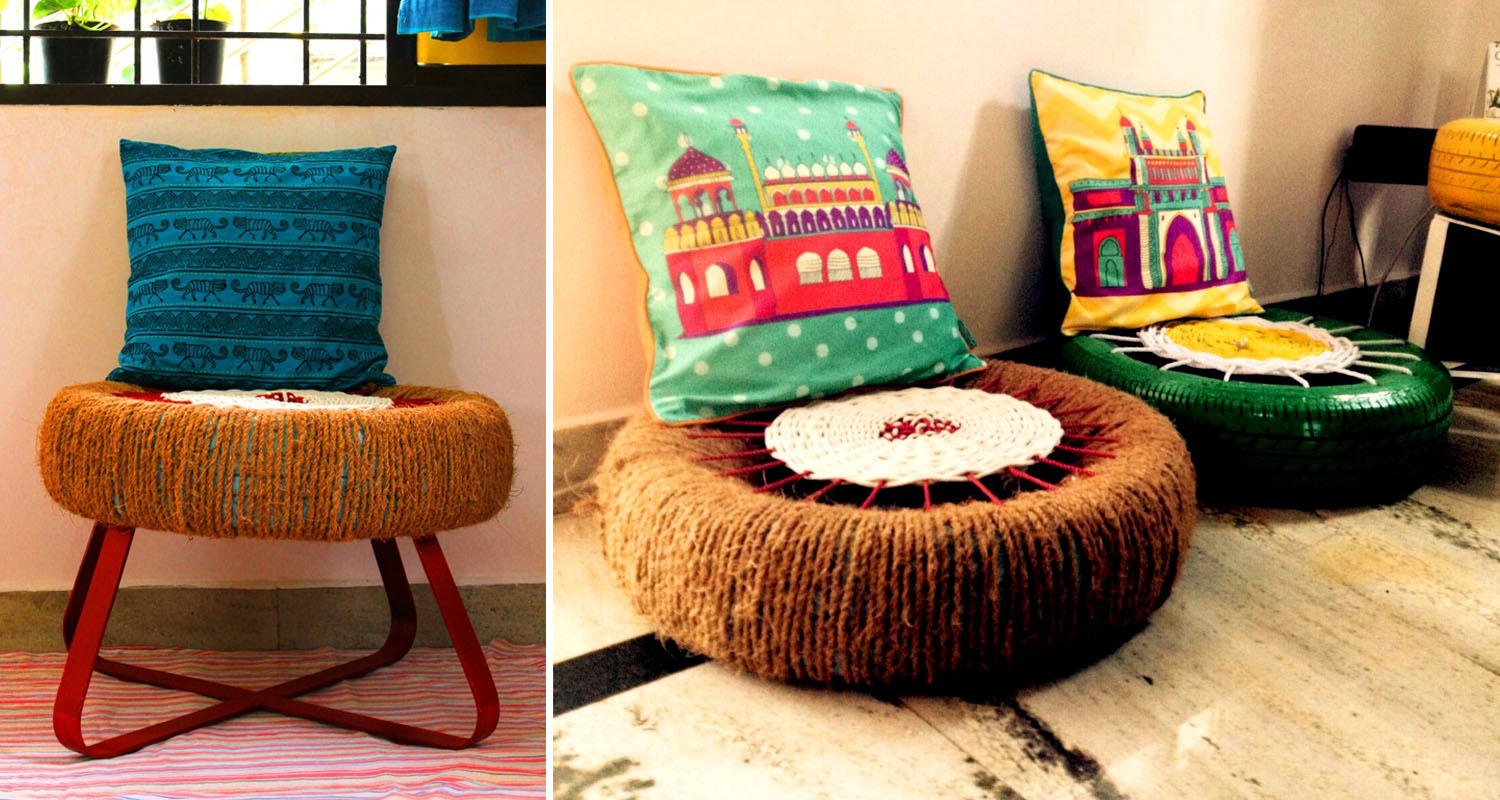 Upcycling inhabitat green design innovation for Home decor using waste