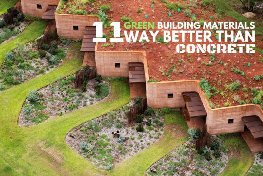 Green Building Materials : Green building materials that are way better than