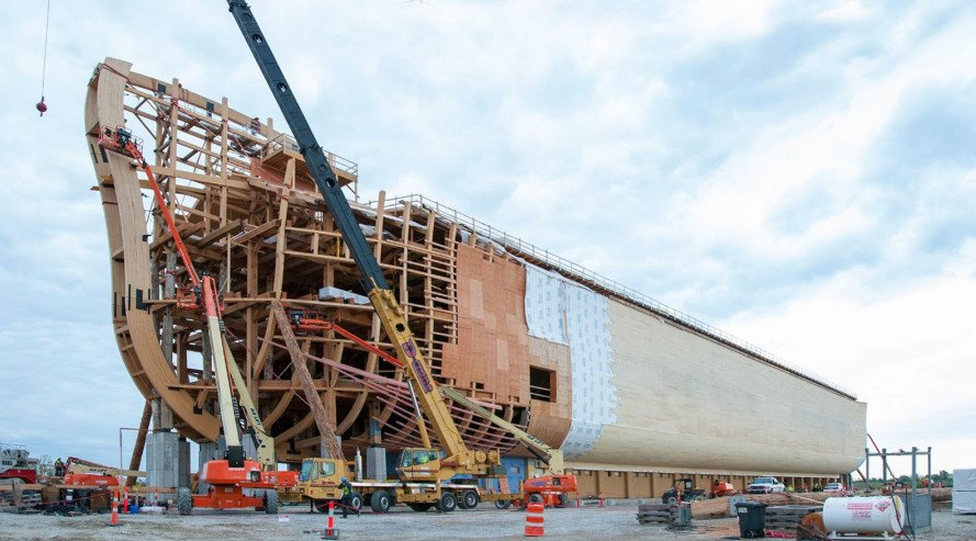 Ark Encounter, Noah's ark, Kentucky, amusement park, theme park, creationism, evolution deniers, timber frame, timber structure