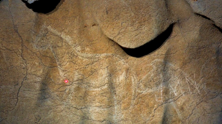 cave paintings, caves, animal paintings, paleolithic, prehistoric, diego garate, bizkaia provincial council, axturra cave, basque country, spain, spanish caves, archaeology, excavation, art