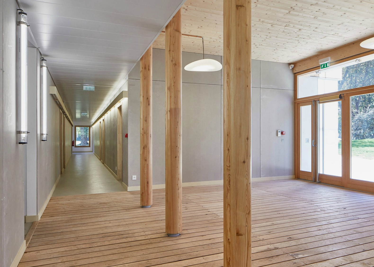 Belus & Hénocq Architectes, Maison d'Education de la Légion d'Honneur, Saint Denis Boarding School, timber architecture, timber clad buildings, french archictects, school design, educational buildings, urban design, wooden buildings, timber buildings,