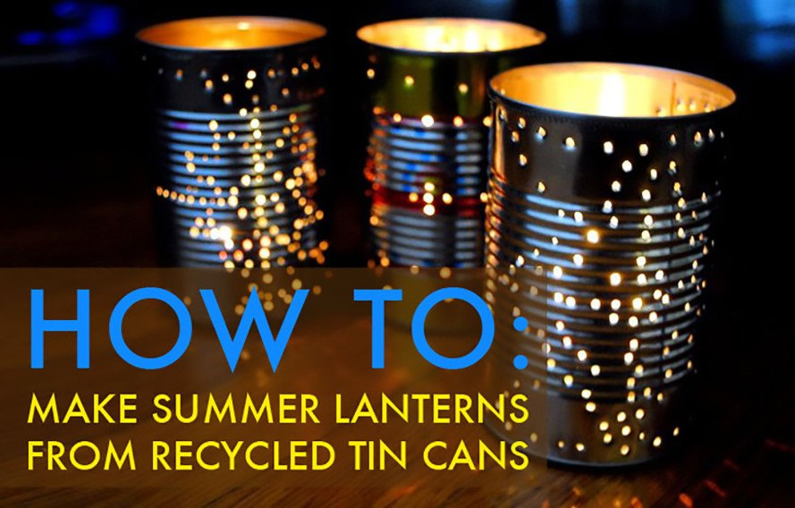 Groovy How To Recycle A Tin Can Into A Gorgeous Outdoor Lantern Download Free Architecture Designs Salvmadebymaigaardcom