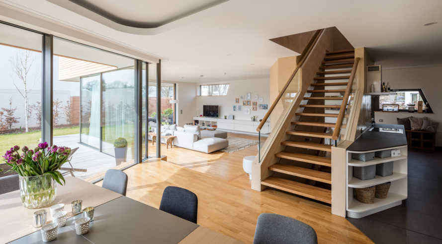Holistic Living in Berlin, plus energy homes, Berlin, GRAFT Architects, BuroHappold, smart homes, recyclable materials, heat recovery ventilation system, solar-powered homes, solar power, photovoltaics, green architecture