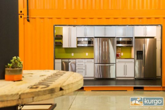 Kurgo S Bright Orange Shipping Container Office Is A Haven