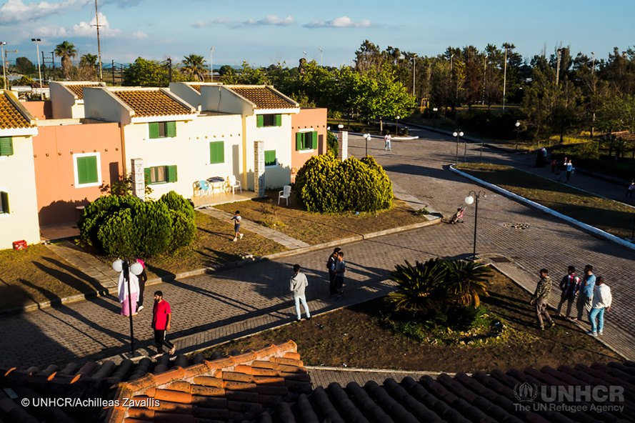 LM Village, UNHCR, refugee, refugees, refugee relocation, refugee camp, resort, abandoned resort, Greek resort, bungalows, aparments