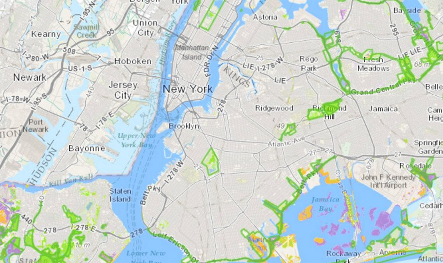 New interactive map of NYC\'s diverse natural areas represents an ...