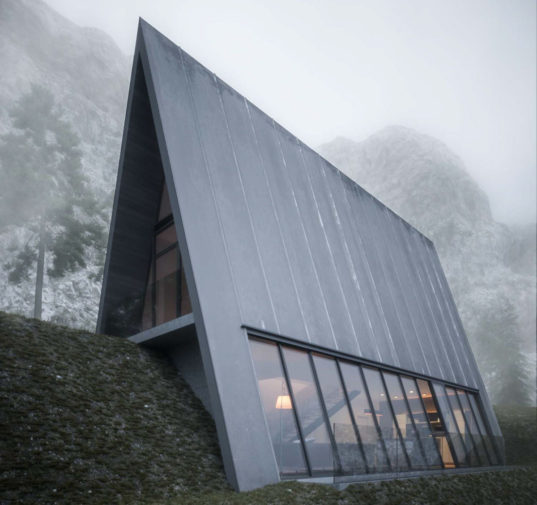 Triangle Cliff House Mountain Cabin Designed By Matthias