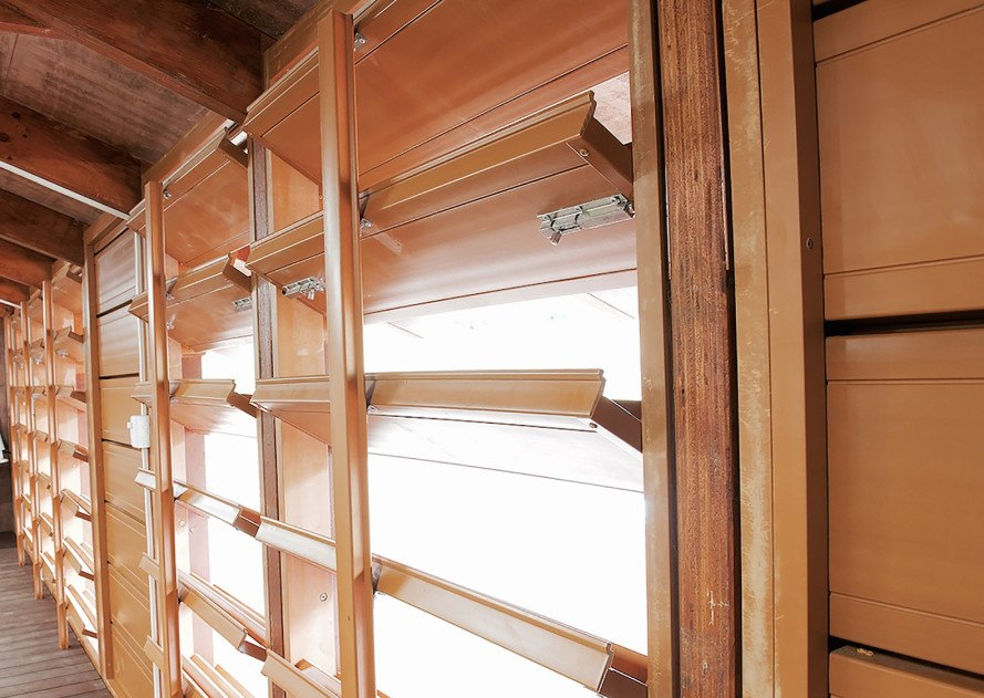 Nev House, Nev Hyman, Nev House by Nev Hyman, prefab, sustainable, recycled, plastic, wood, resilient design, natural disasters, architecture, design, Vanuatu, homes, houses, louver windows