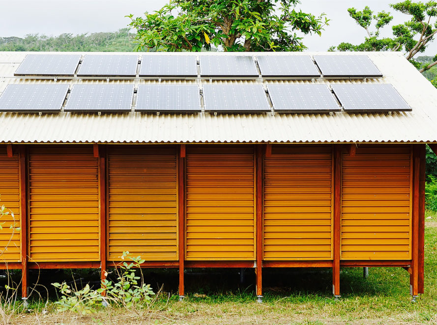 Nev House, Nev Hyman, Nev House by Nev Hyman, prefab, sustainable, recycled, plastic, wood, resilient design, natural disasters, architecture, design, Vanuatu, homes, houses, solar panels
