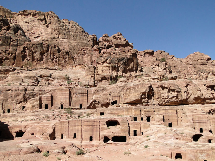 Petra, ancient city, ancient civilization, ancient, archaeology, discovery, monument, platform, Street of Facades