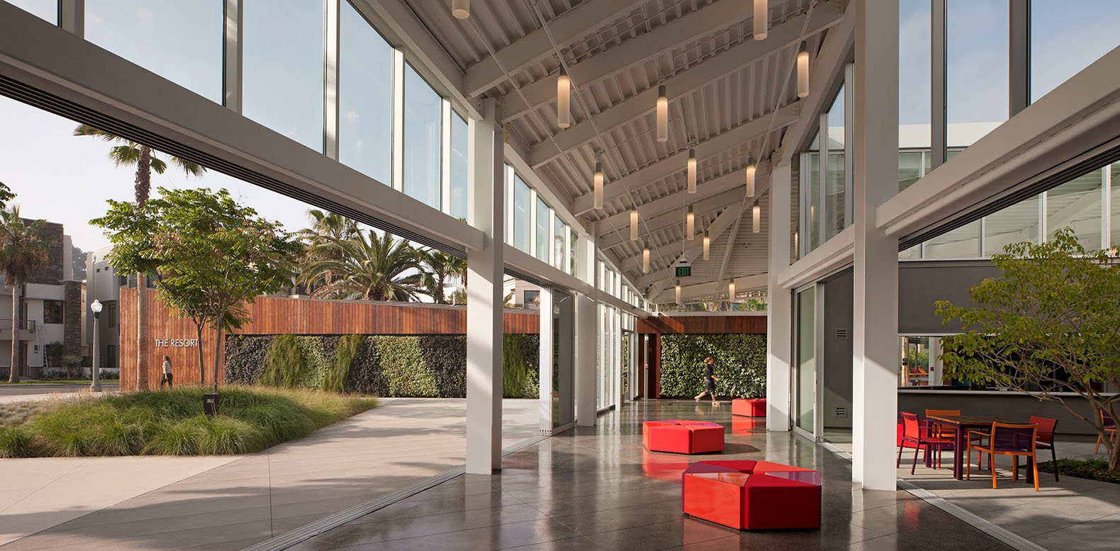 Green Roofed Solar Powered Recreational Center In La