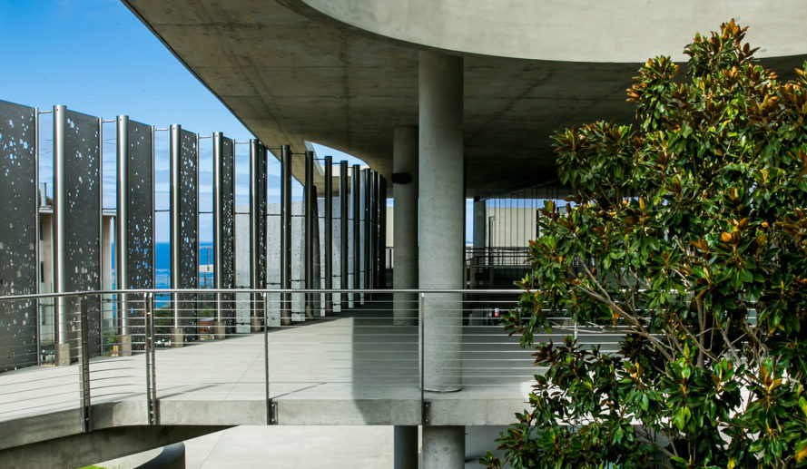 Carrier Johnson + CULTURE, LEED gold certification, perforated metal, point loma nazarene university, san diego, science building, Science Center at the Point Loma Nazarene University, stainless steel