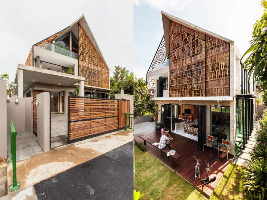 Siglap Plain by Aamer Architects, Singapore contemporary architecture, concrete and wood architecture in Singapore, naturally ventilated homes in Singapore