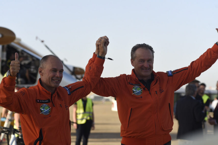 Andre Borschberg, bertrand piccard, electric airplane, experimental airplane, JFK airport, kennedy airport, new york city, solar impulse, solar powered airplane, trans-atlantic solar powered flight, spain, solar impulse crosses atlantic