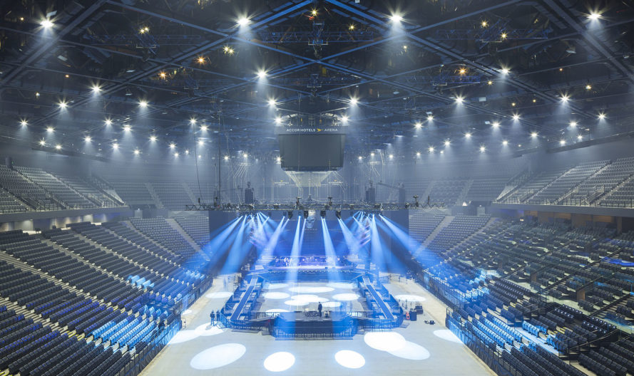 AccorHotels Arena, sports arena, Paris, world's biggest arenas, concert hall, green renovation, DVVD, Populous, performance space