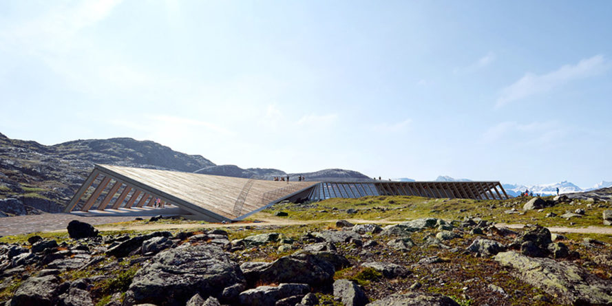 Icefjord Center, Dorte Mandrup Arkitekter, visitor center, UNESCO heritage site, Greenland, glacier, green architecture, UNESCO protected site, wooden structure