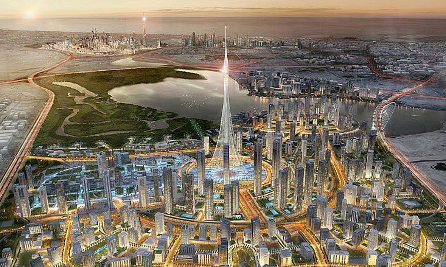 united arab emirates, dubai, tower at dubai creek harbour, santiago calatrava, aurecon, world's tallest structure, world's tallest tower, dubai creek, dubai wildlife sanctuary, dubai real estate development