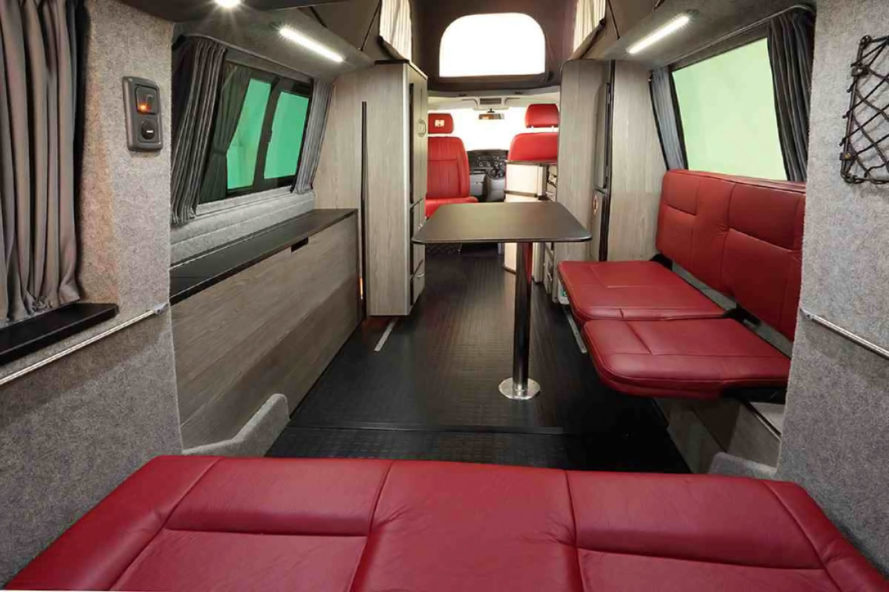 Doubleback Camper Van Extends 6 5 Feet With The Press Of A
