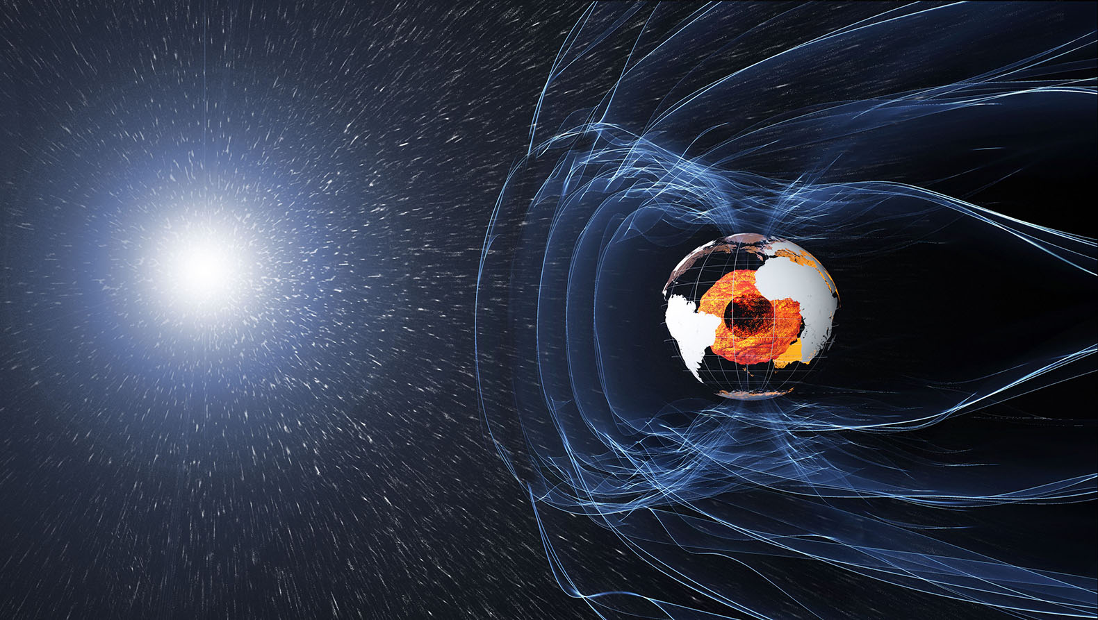 The Earth's magnetic field is weakening ten times faster than expected