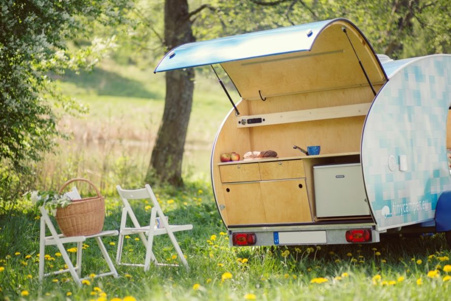 tinycamper, lithuania, tiny camper, tiny travel trailer, tiny caravan, teardrop trailer, camping, lightweight trailer, minimalist camping, minimalist traveling