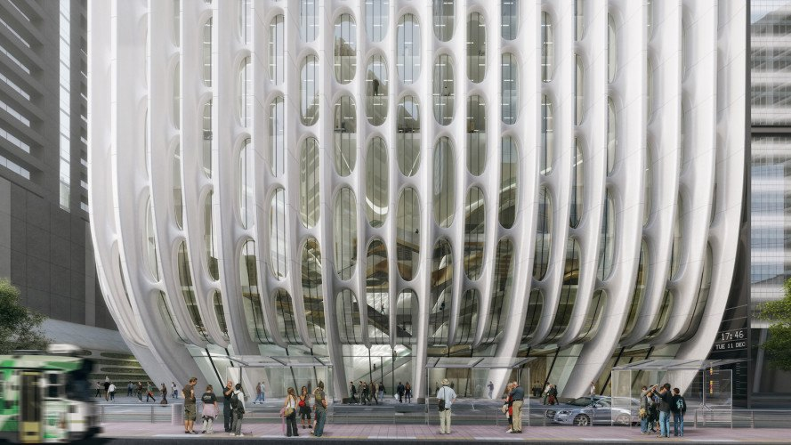 600 Collins Street by Zaha Hadid Architects, energy efficient architecture, mixed use architecture, Melbourne mixed use tower, Melbourne eco-friendly architecture