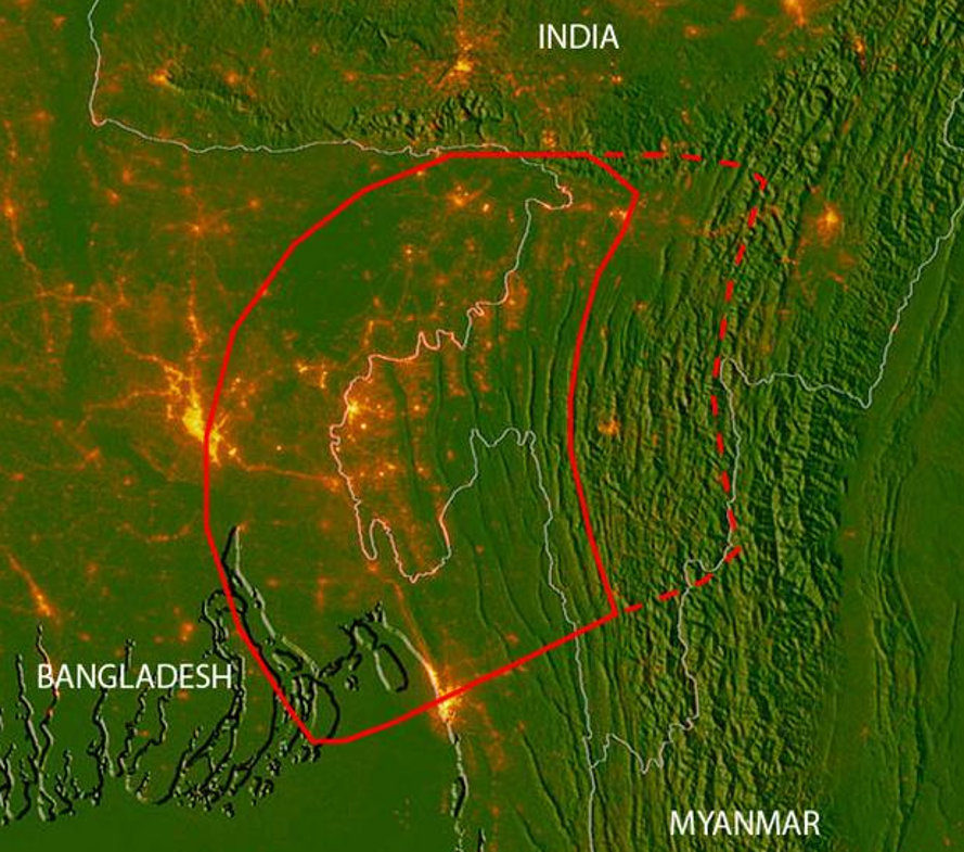 Bangladesh India Myanmar Asia Earthquakes Fault Lines Natural Disasters