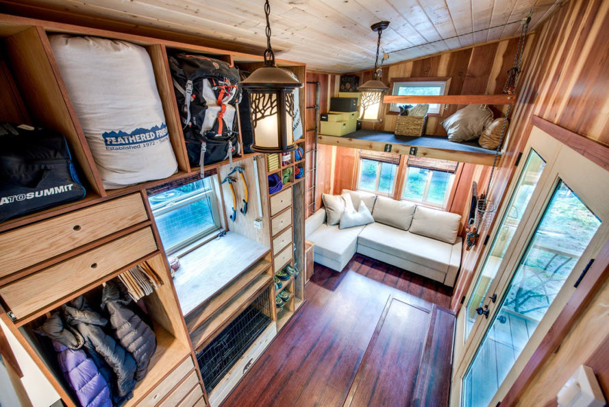 Basecamp Tiny Home Boasts A Large Rooftop Deck For