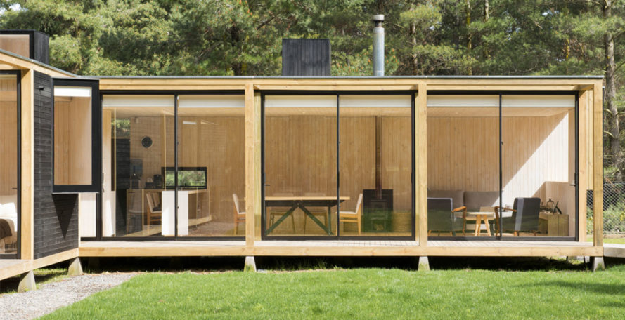Algarrobo House, prefab, prefab house, Chile, modular, Garcia de la Huerta and Gleixner architects, green architecture, wooden house, sustainable materials