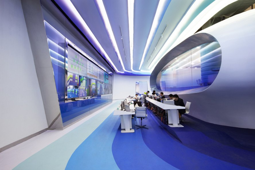 Futuristic office in China captures the awesome spirit of the Internet