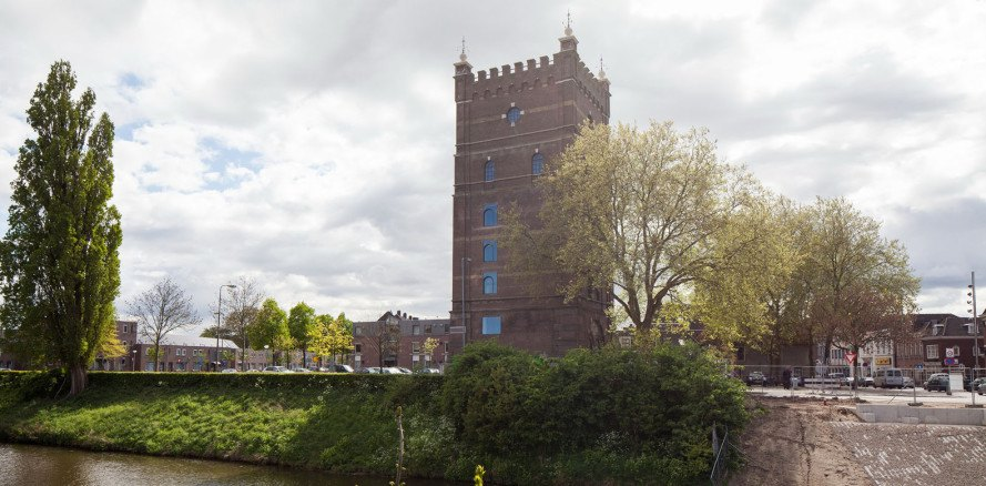 Den Bosch water tower transformation, ZECC Architecten, water tower, the Netherlands, historic building, office space, meeting space, green renovation, repurposed spaces