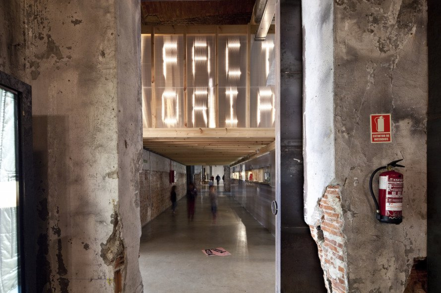 Factoría Cultural Matadero Madrid by Office for Strategic Spaces, Factoría Cultural by Office for Strategic Spaces, Matadero Madrid adaptive reuse, Madrid adaptive reuse, startup hub in Madrid, startup incubator in Madrid