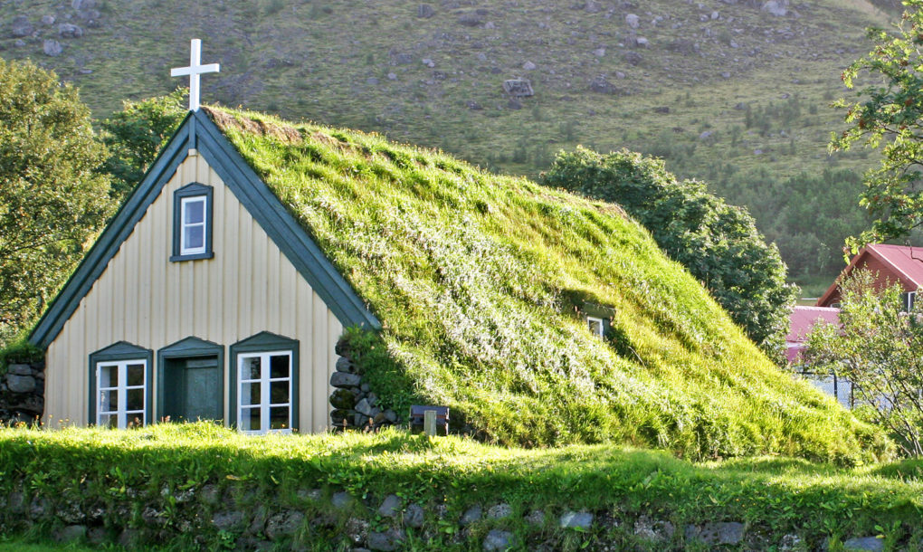 19th Century Green Roofed Icelandic Church Is Straight Out