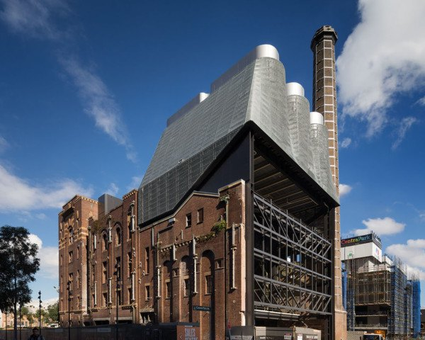 Irving Street Brewery, repurposed building, Tzannes architects, Sekisui House, Frasers Property, power plant, Sydney, mixed-use development, green architecture
