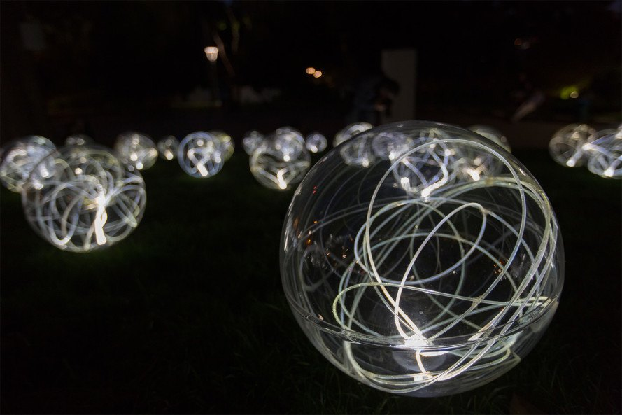 Glowing Orbs Celebrate Light And Poetry