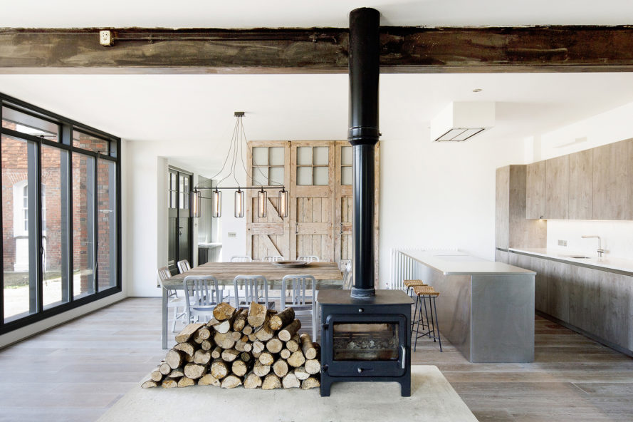 st johns ambulance, east sussex architecture, marta nowicka & co, Marta Norwicka, Vojteck Ketz, st johns rye, english architecture, reclaimed wood, exposed brick